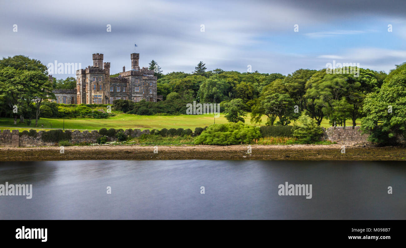 Lews Castle Across The Water - Stock Image