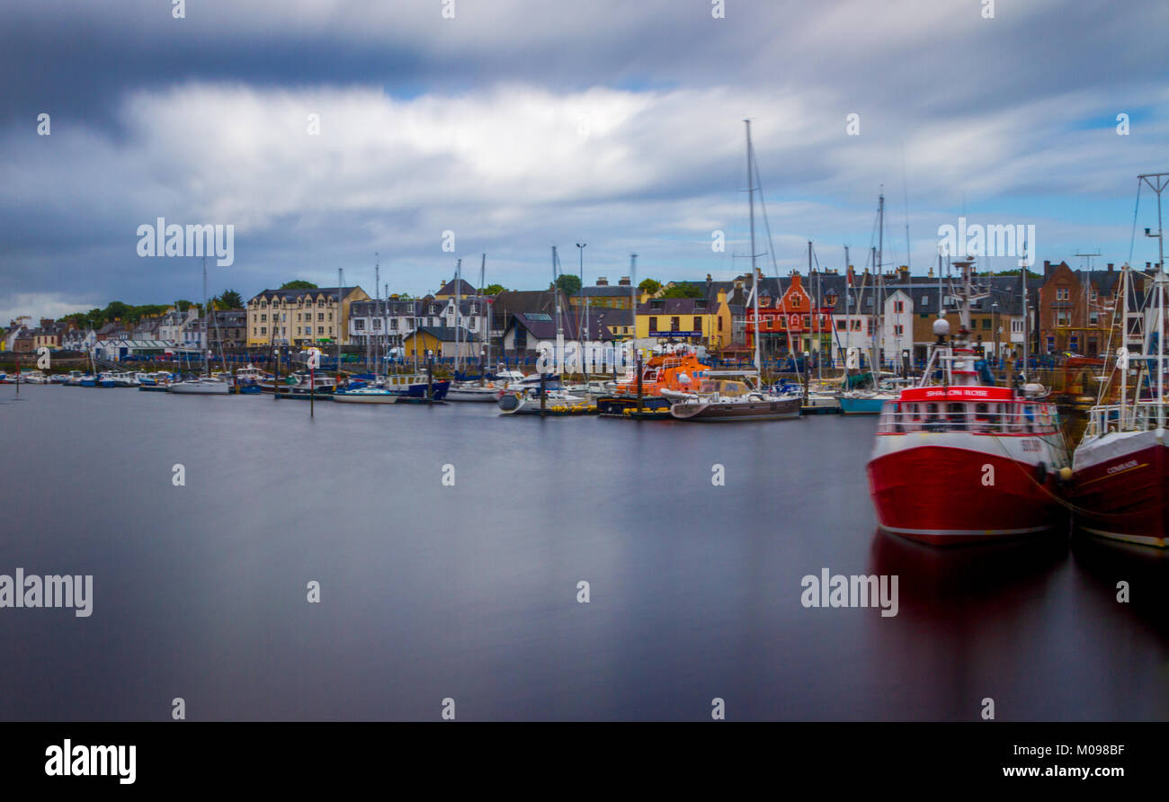 View Of Stornoway Harbour - Stock Image