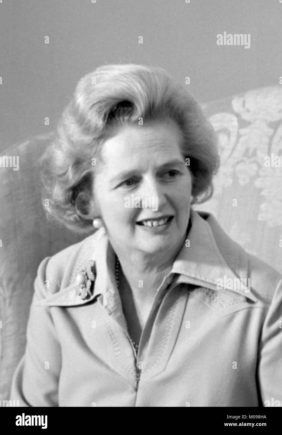 Margaret Thatcher (1925-2013). Portrait of the British Prime Minister in September 1975, photo by Marion S Trikosko. Stock Photo