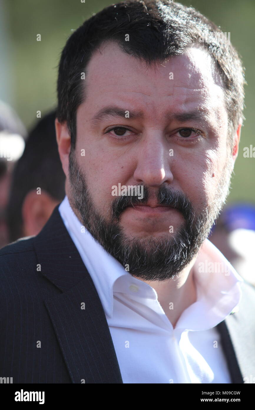 Ideal Standard Roccasecca.Roccasecca Italy January 18 2018 Matteo Salvini Meets