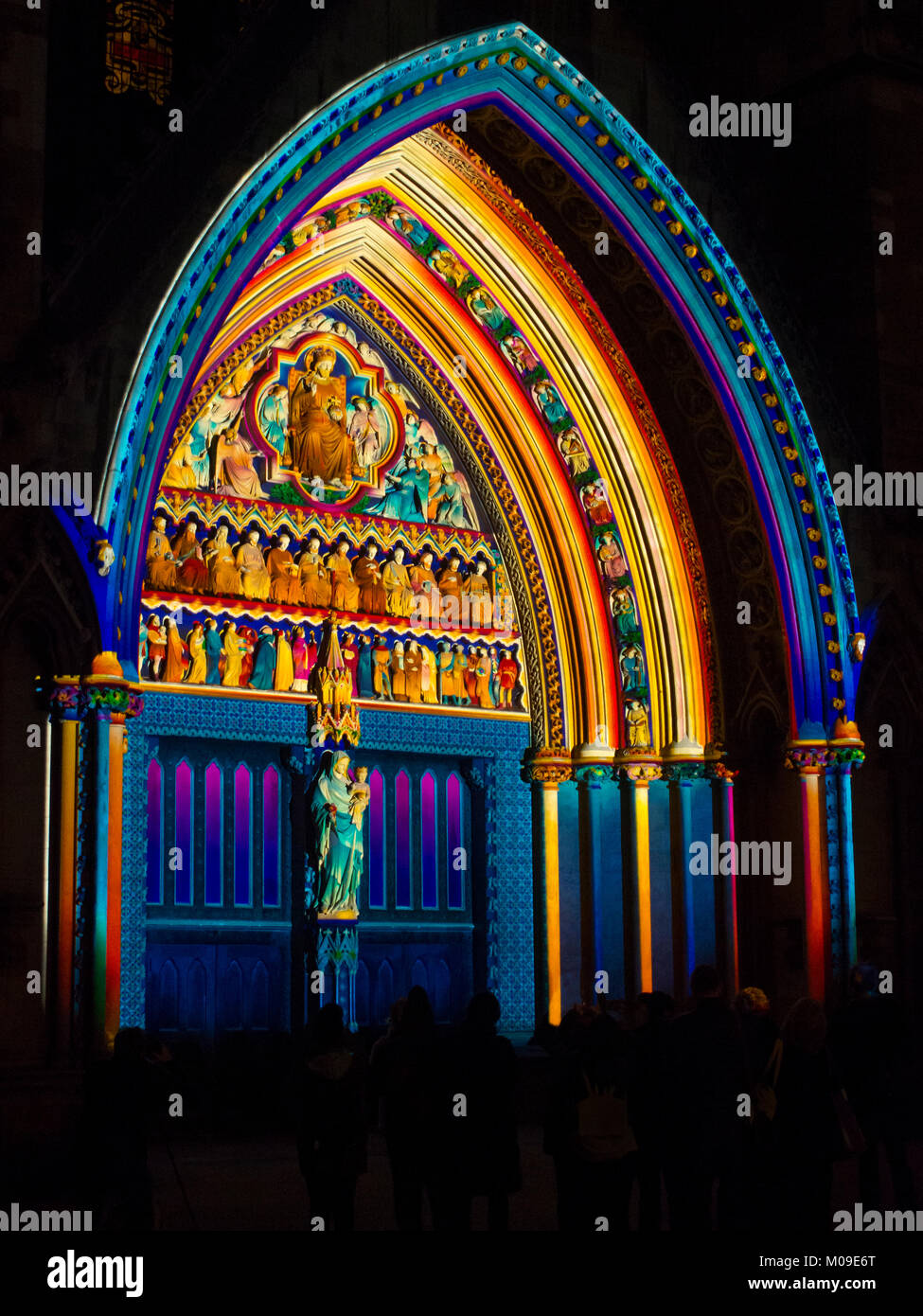 London, UK. 19th January, 2018. Lumiere Light festival London 19/01/2018. 'The Light of the Spirit' by Patrice - Stock Image