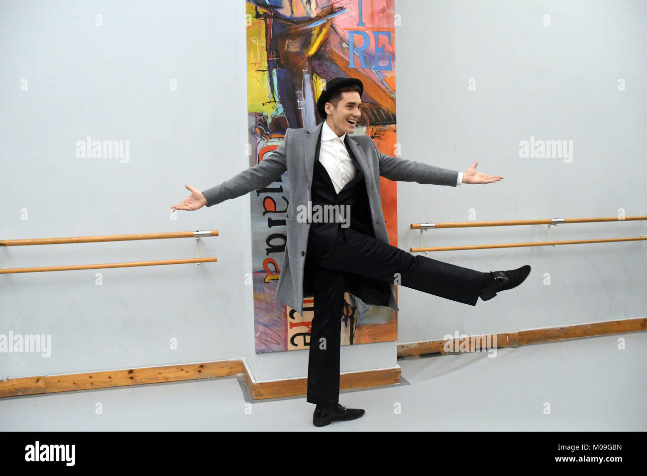 Rome Italy 19 January 2018 - Inauguration of the ballet dance center in Rome,special guest Vincenzo Mingolla - Stock Image