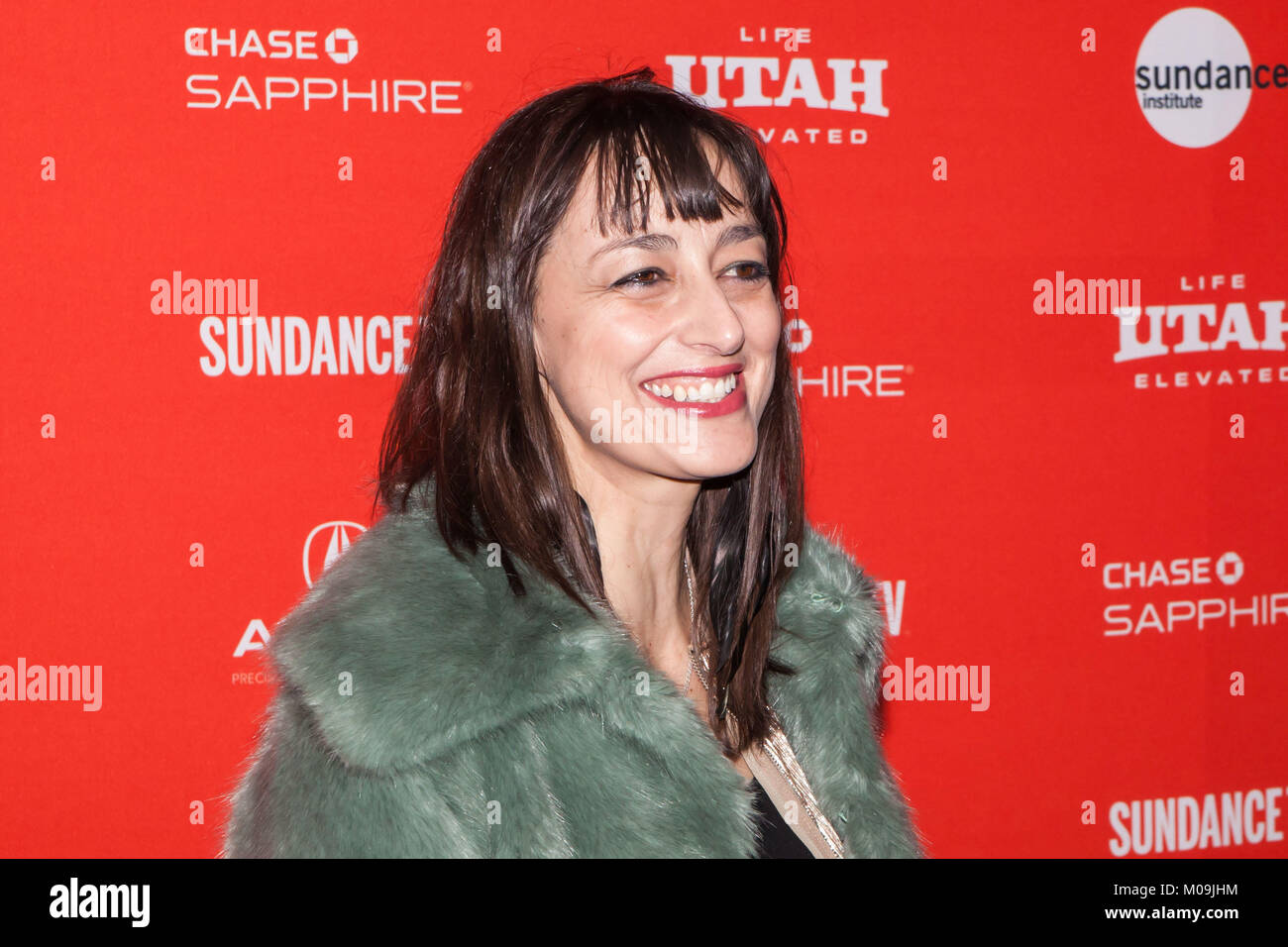 Anne Nikitin attends the 'American Animals' Premiere during the 2018 Sundance Film Festival at Eccles Center - Stock Image