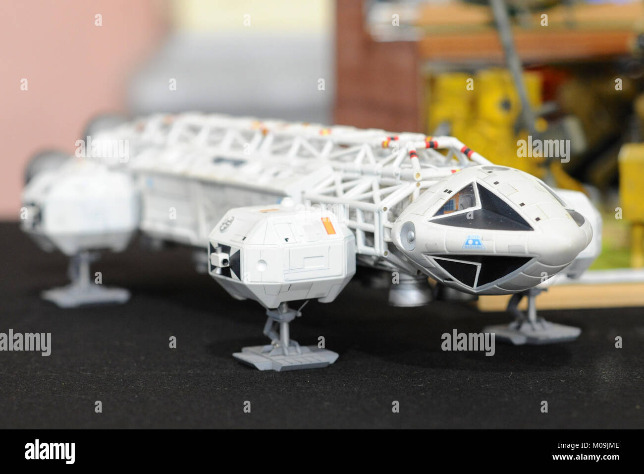 London, UK. 19th Jan, 2018. A model of an Eagle Transporter (a fictional spacecraft seen in the 1970s British television - Stock Image