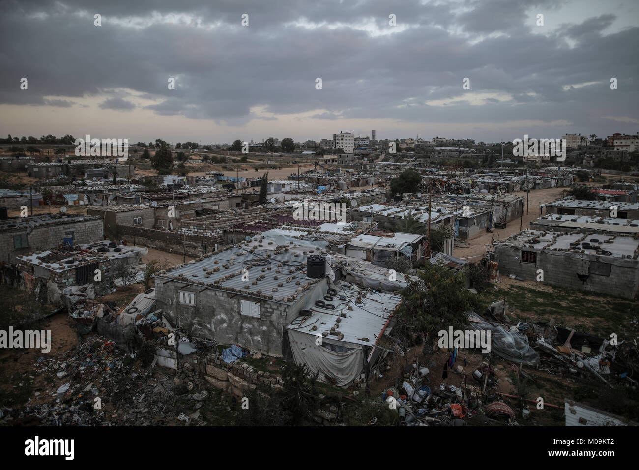 A general view of the Khan Younis refugee camp where much of
