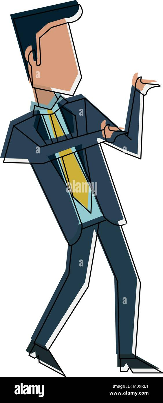 Businessman with winner pose - Stock Vector