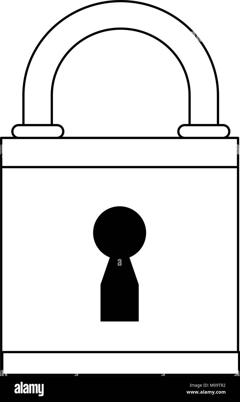 Padlock security symbol - Stock Image