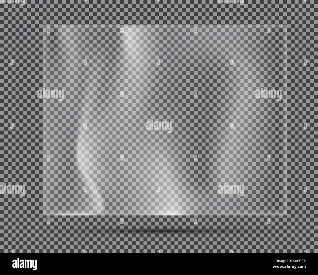 Transparent Light Polyethylene Banner. Vector Illustration. - Stock Vector