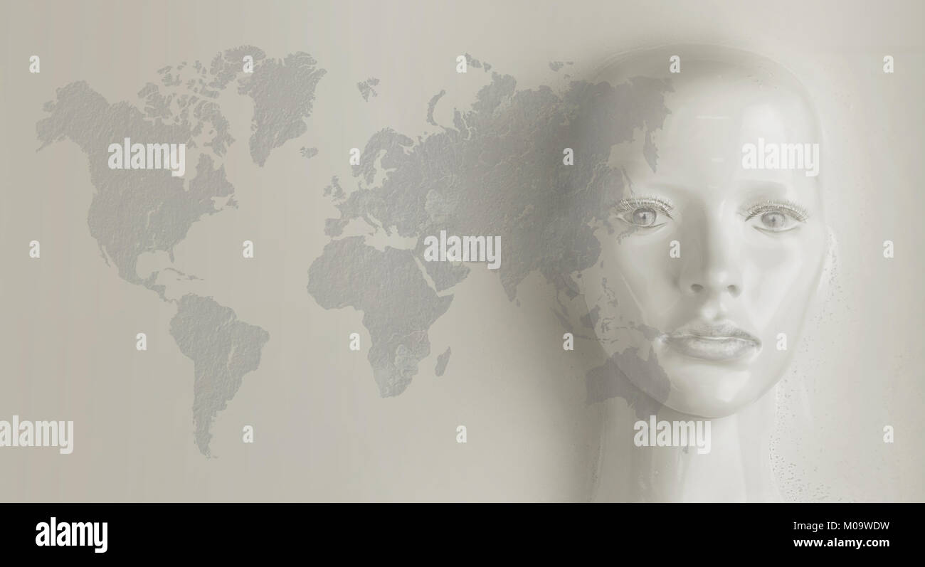 Artificial intelligence concept - world communication - Stock Image