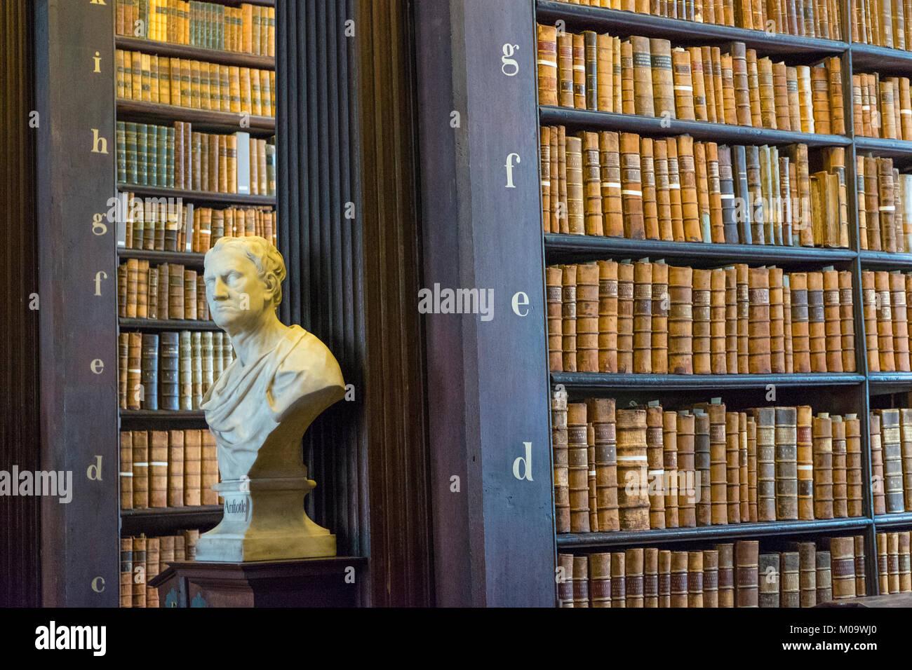 Long Room, Trinity College, Dublin, County Dublin, Ireland - Stock Image