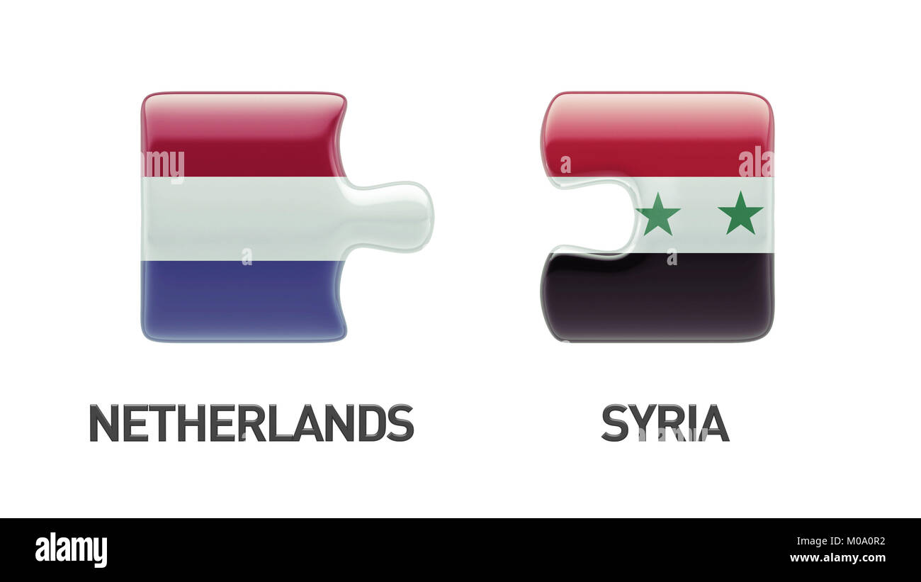 Syria Netherlands High Resolution Puzzle Concept Stock Photo