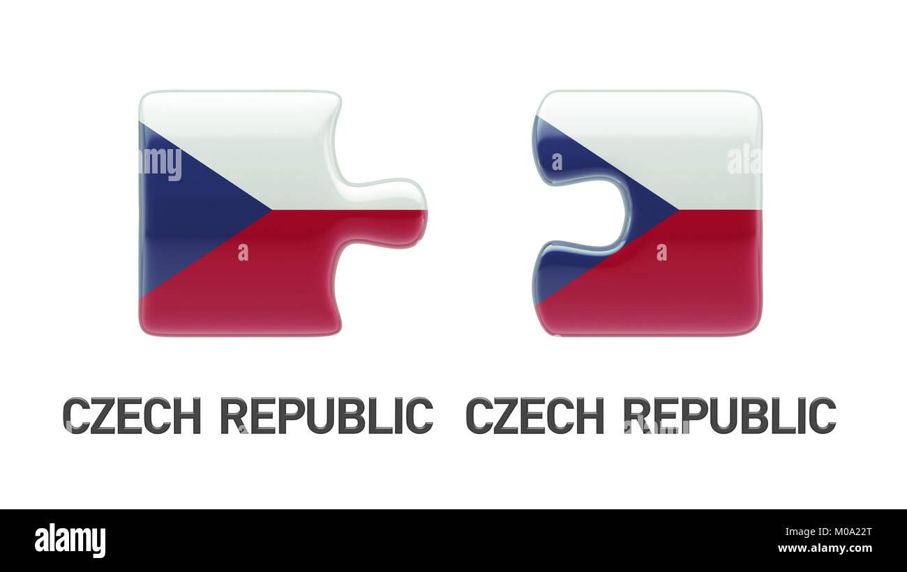 Czech Republic High Resolution Puzzle Concept Stock Photo
