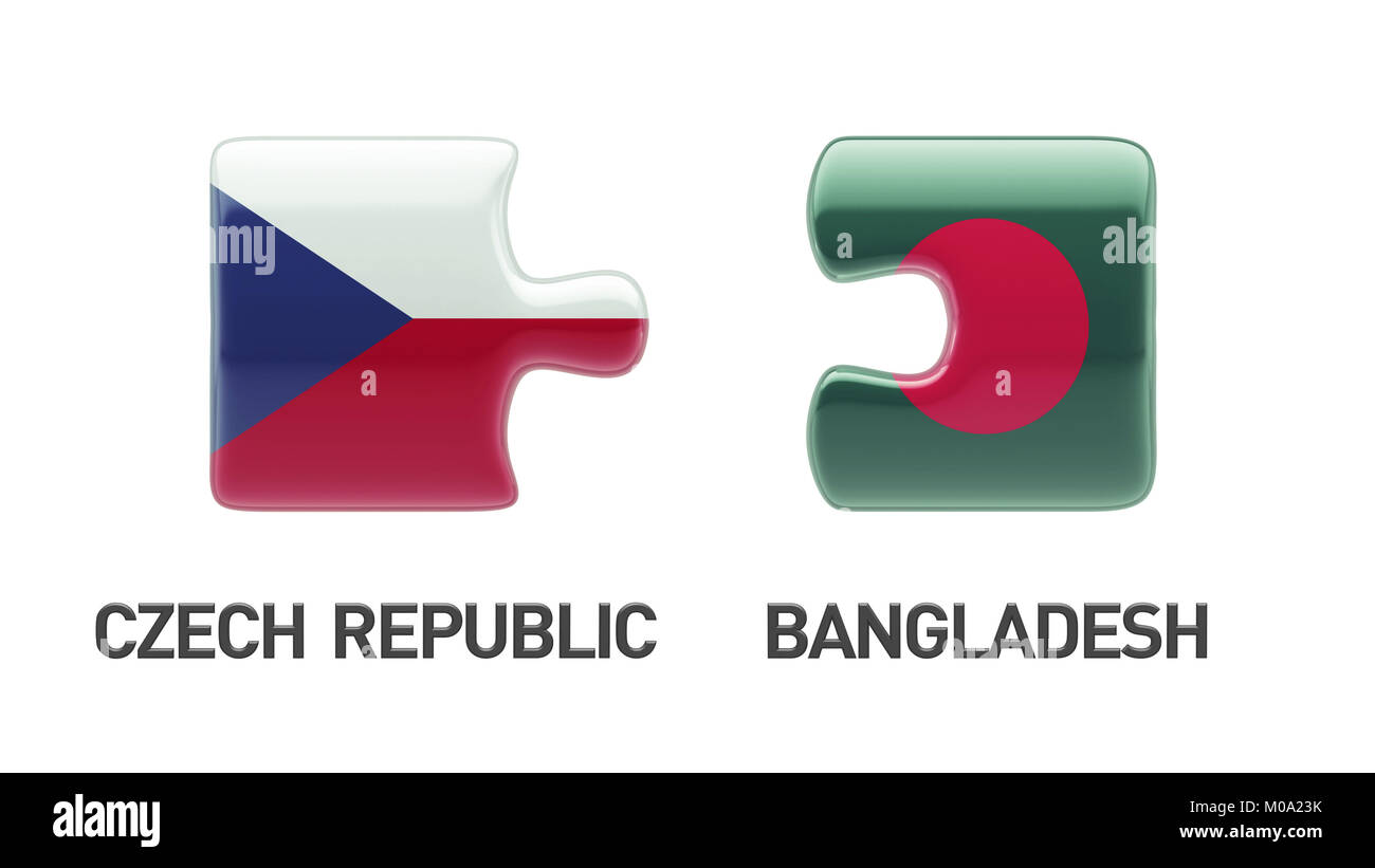 Bangladesh Czech Republic High Resolution Puzzle Concept Stock Photo