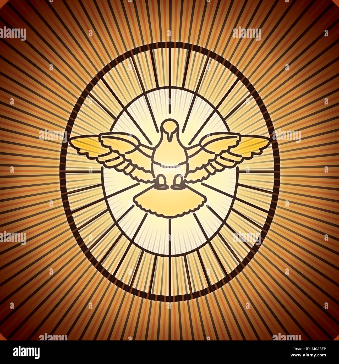 Holy Spirit Dove Stained Glass Stock Photos Holy Spirit Dove