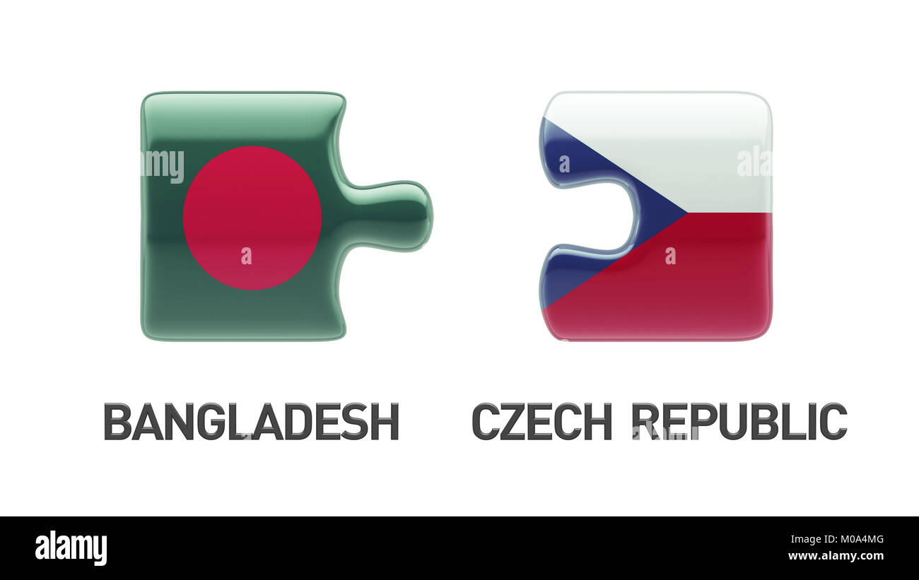 Bangladesh Czech Republic High Resolution Puzzle Concept Stock Photo