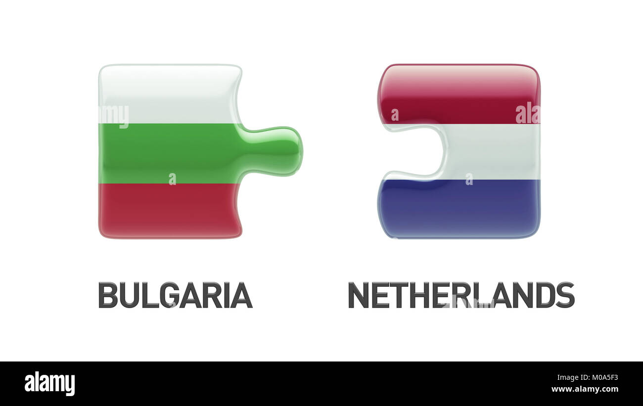 Bulgaria Netherlands High Resolution Puzzle Concept Stock Photo