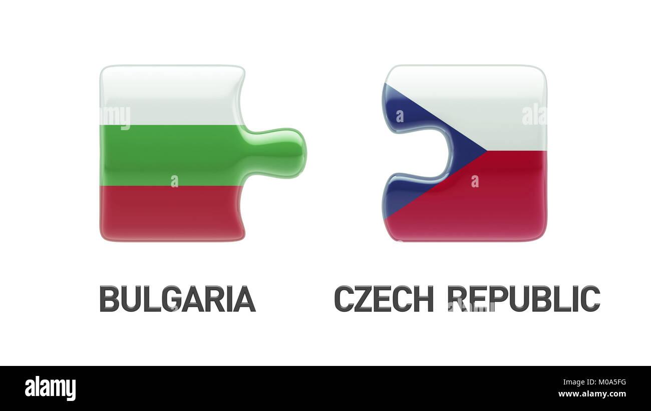Bulgaria Czech Republic High Resolution Puzzle Concept Stock Photo