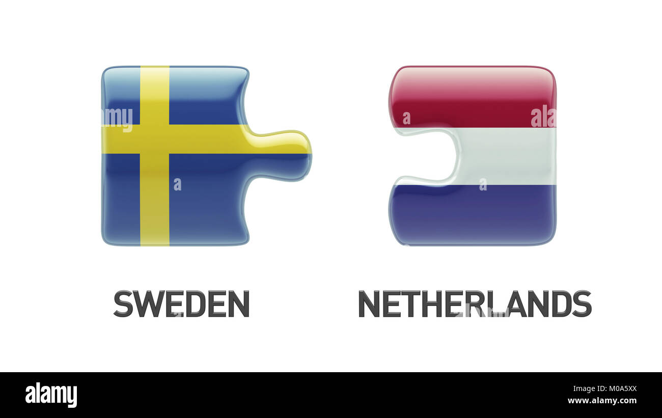 Sweden Netherlands High Resolution Puzzle Concept Stock Photo