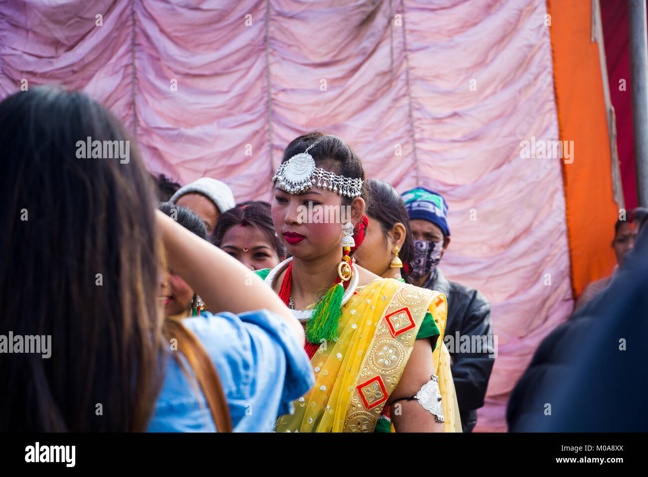 Noemie Repetto / Le Pictorium -  2018, Jan 15 - Maghi festival. New Year of Nepal in Tundikhel through the day. Stock Photo