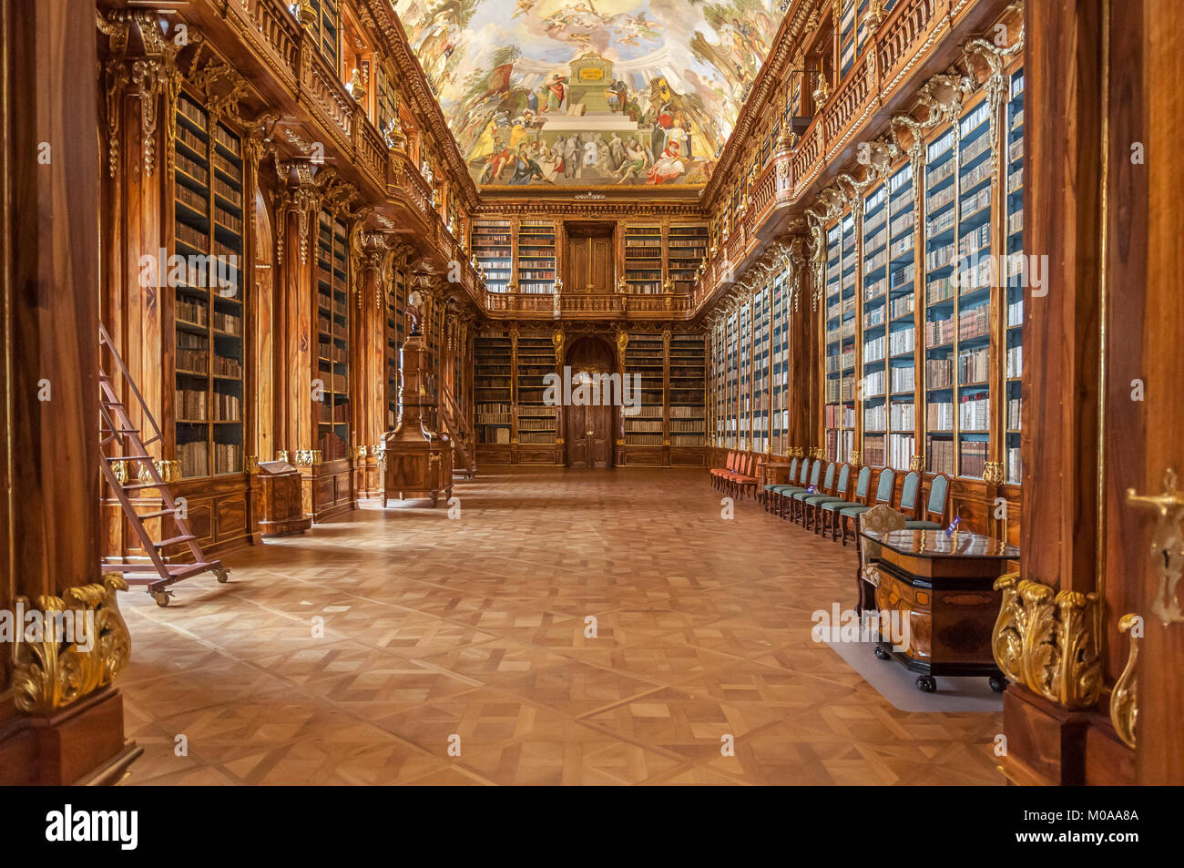Strahov Monastery Library - Stock Image