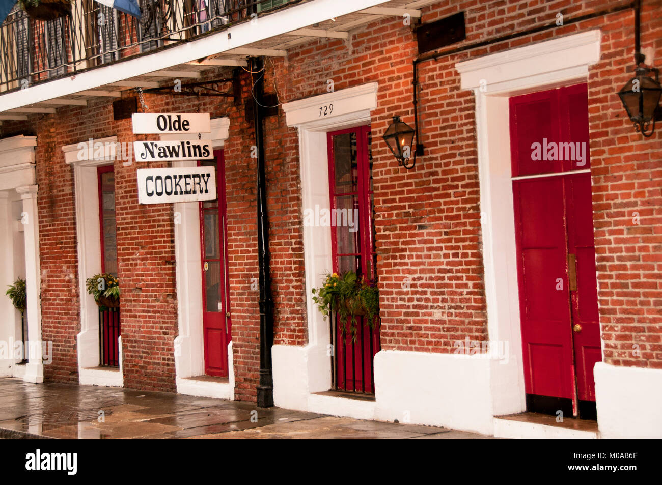 Old N'awlins Cookery exterior sign - Stock Image