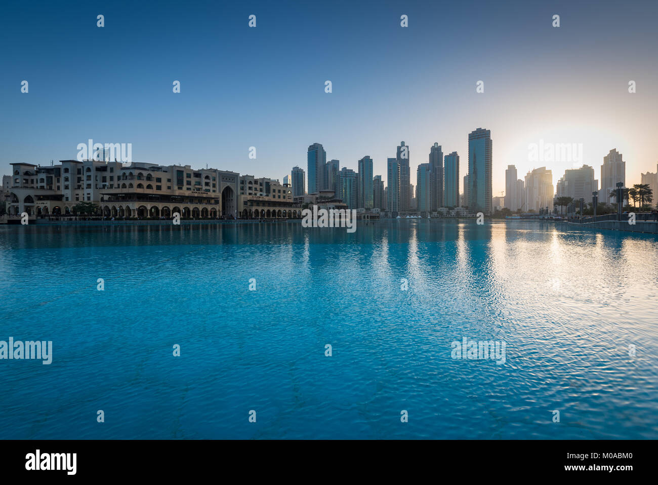 Souk Al Bahar, a shopping mall near the Dubai Mall in Dubai, United Arab Emirates - Stock Image