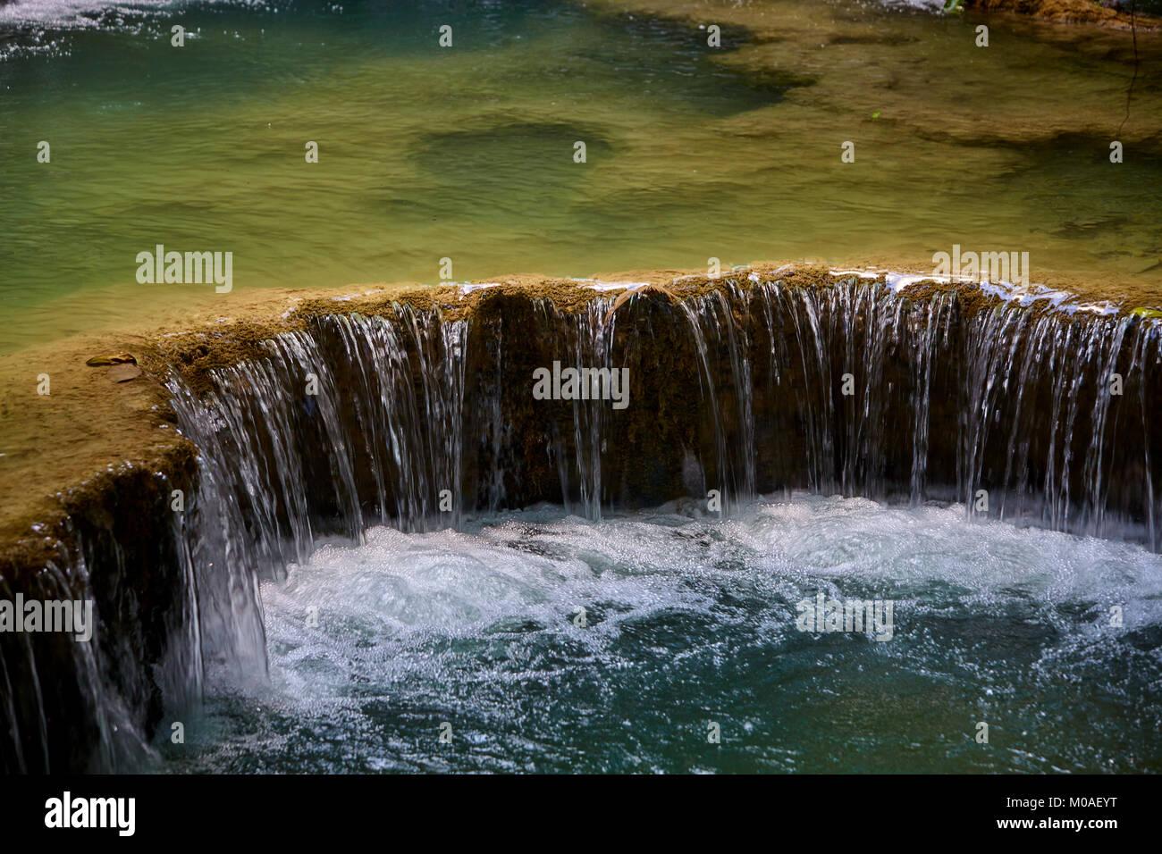 Kuang Si Falls near Luang Prabang - Stock Image