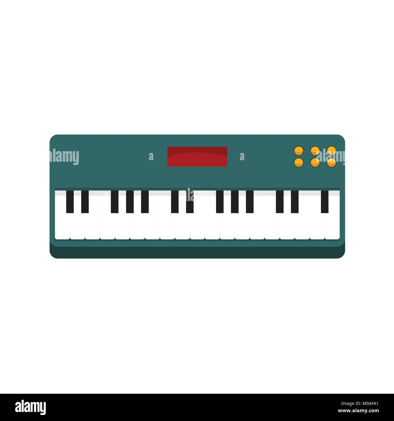 Simple Keyboard Piano Vector Illustration Graphic Design