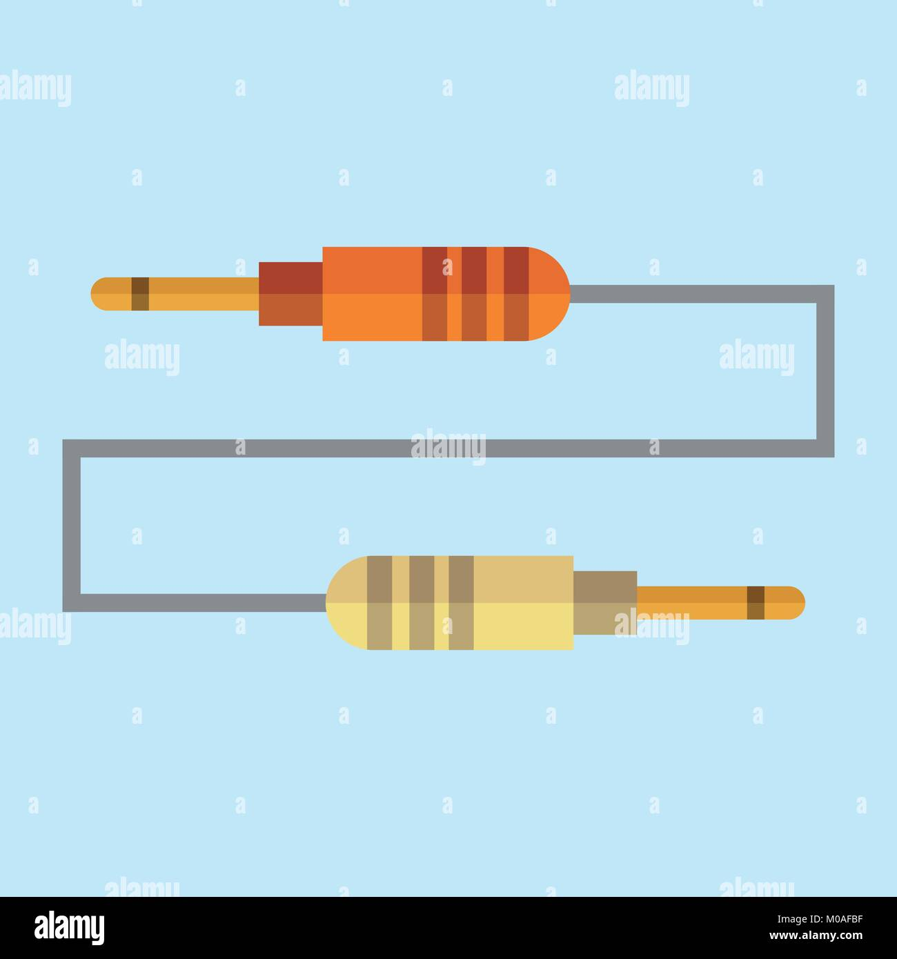Jack Cable Plug Vector Illustration Graphic Design Stock Vector
