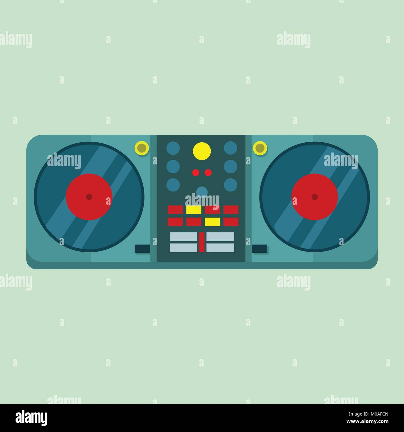 Live DJ Set Turntable Vector Illustration Graphic Design