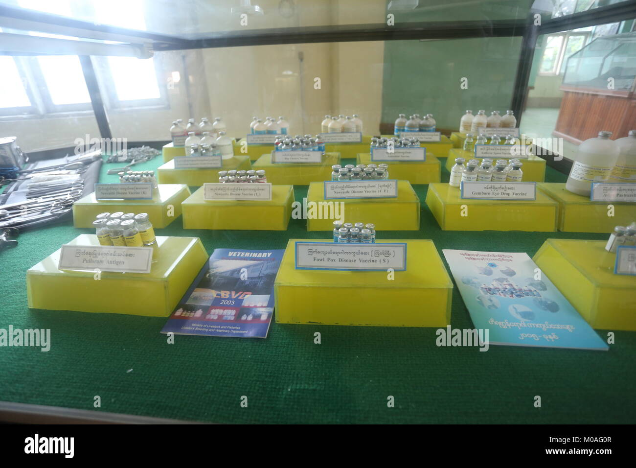 The Drug Elimination Museum in Yangon is filled with displays warning of the dangers and risks of drug addiction. Stock Photo