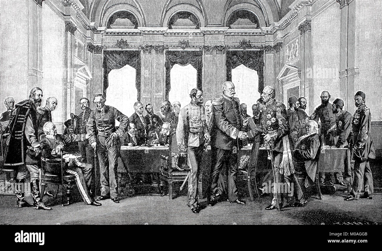 The Berlin Congress in 1878, Germany, digital improved ...