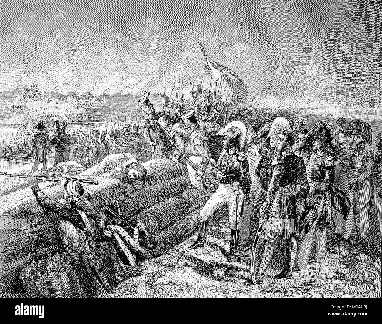 At the Battle of Trocadero on August 31, 1823, the French army captured the fortress on the island of Trocadero - Stock Image