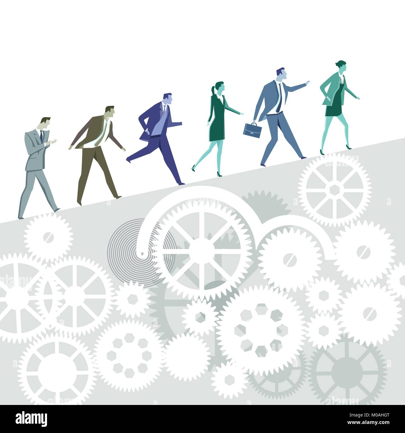 Business career symbolic illustration - Stock Vector