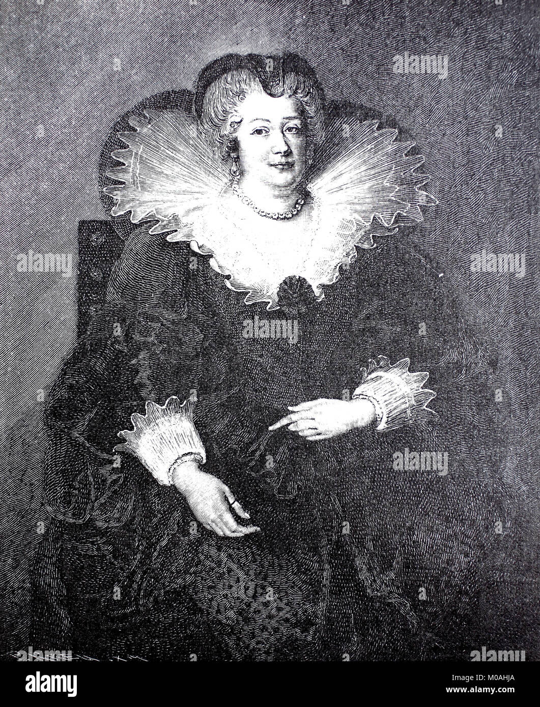 Marie de Medici, 26 April 1575 - 3 July 1642, was Queen of France as the second wife of King Henry IV of France, - Stock Image