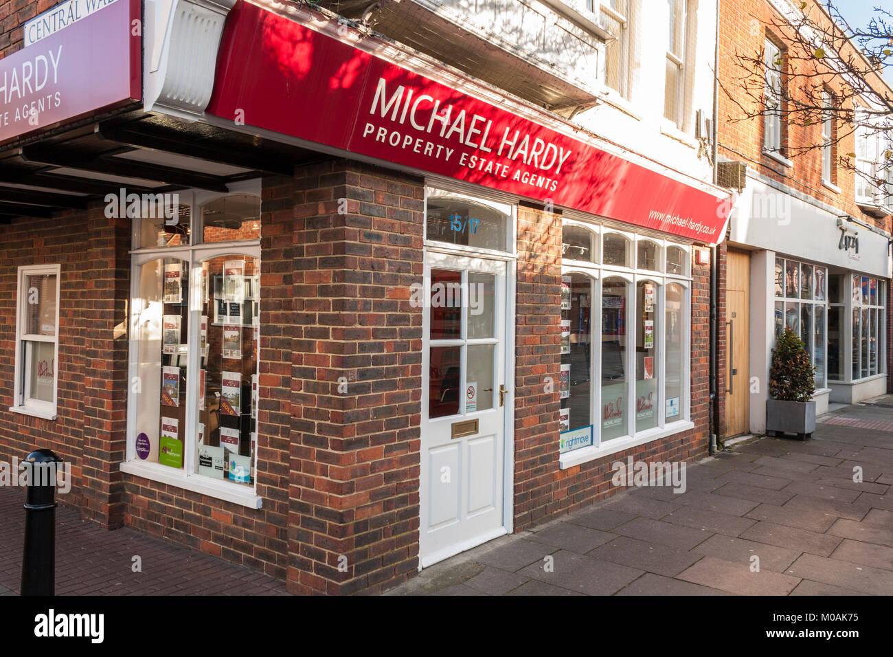 Michael Hardy property estate agents, Wokingham, Berkshire, England, GB, UK - Stock Image
