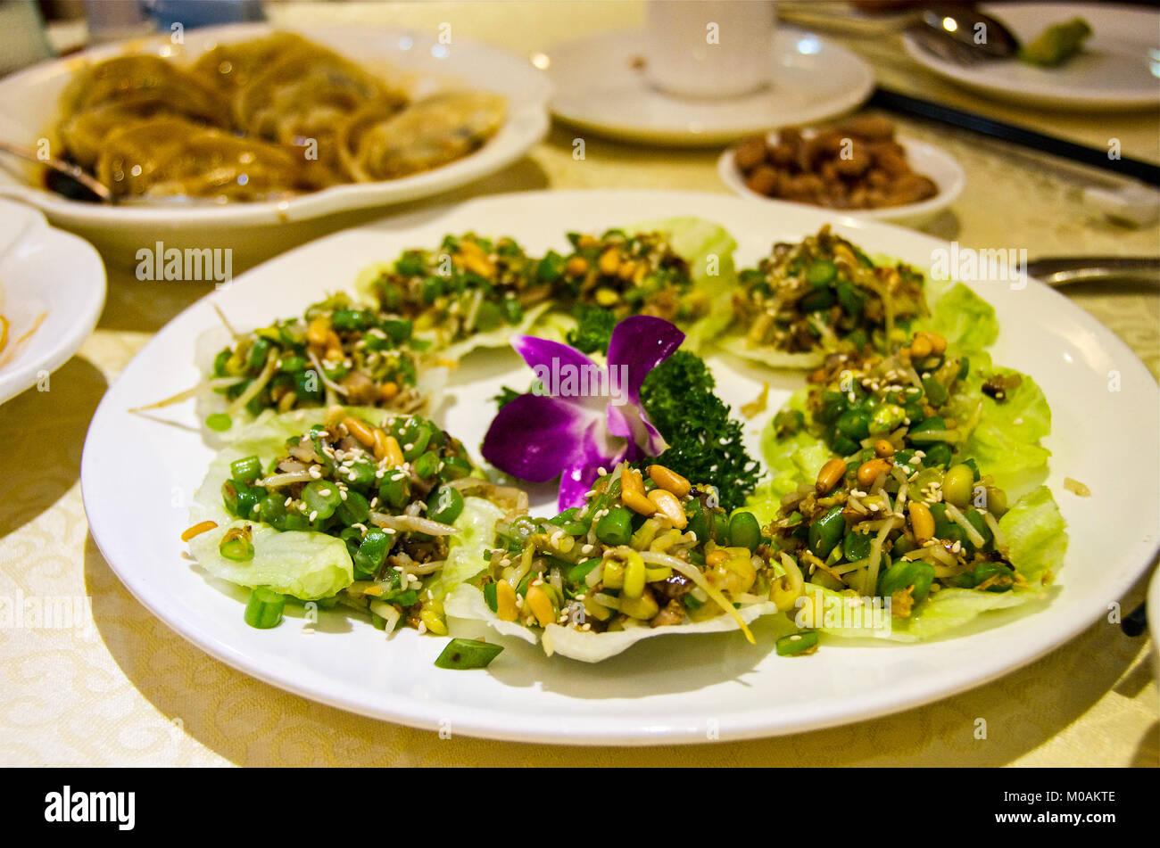 Vegan Asian Dish Stock Photo