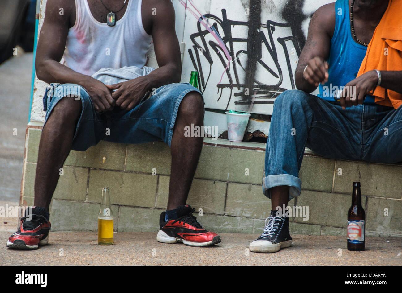 Two Men Talking LIfe - Stock Image
