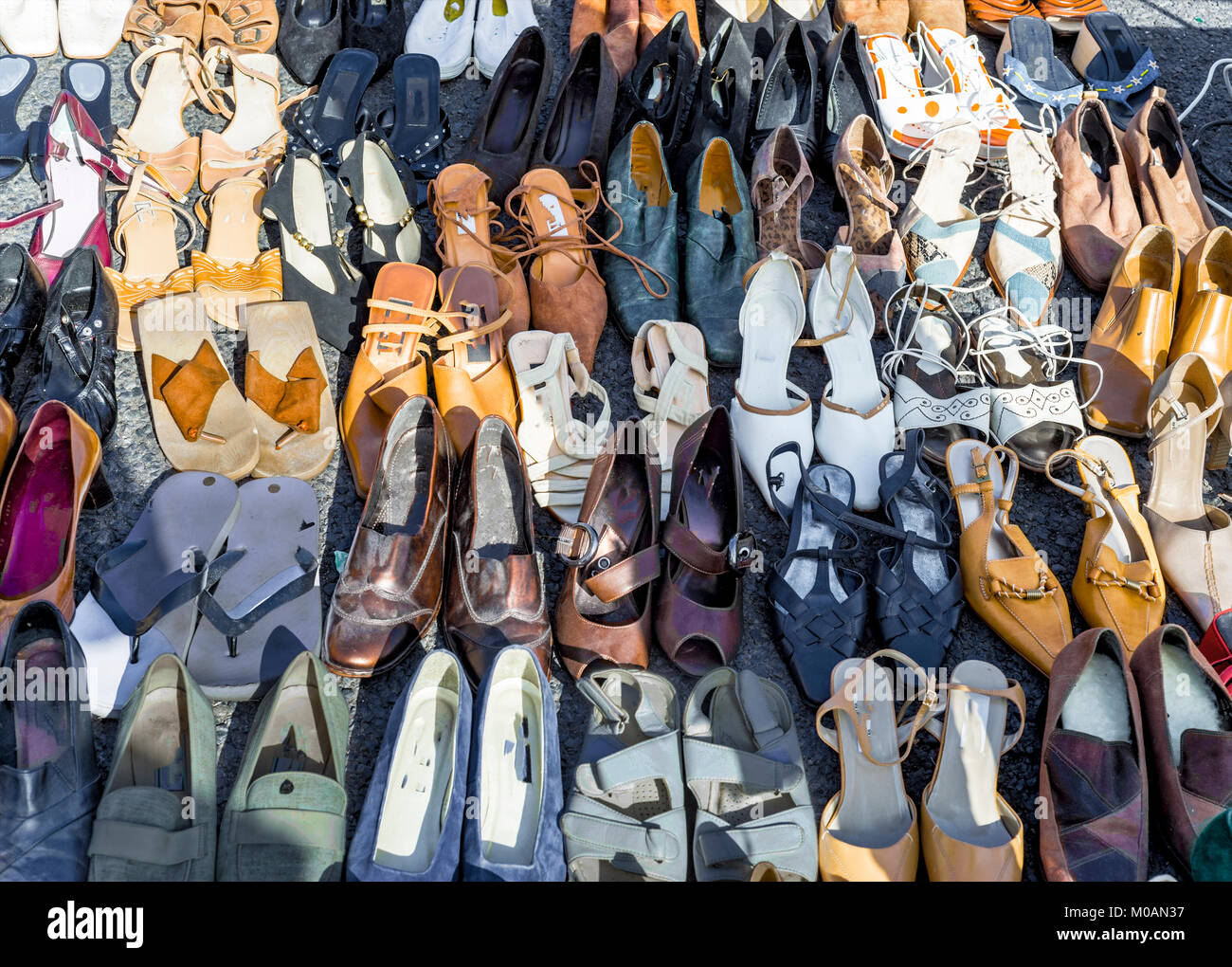 Used Womens Shoes High Resolution Stock