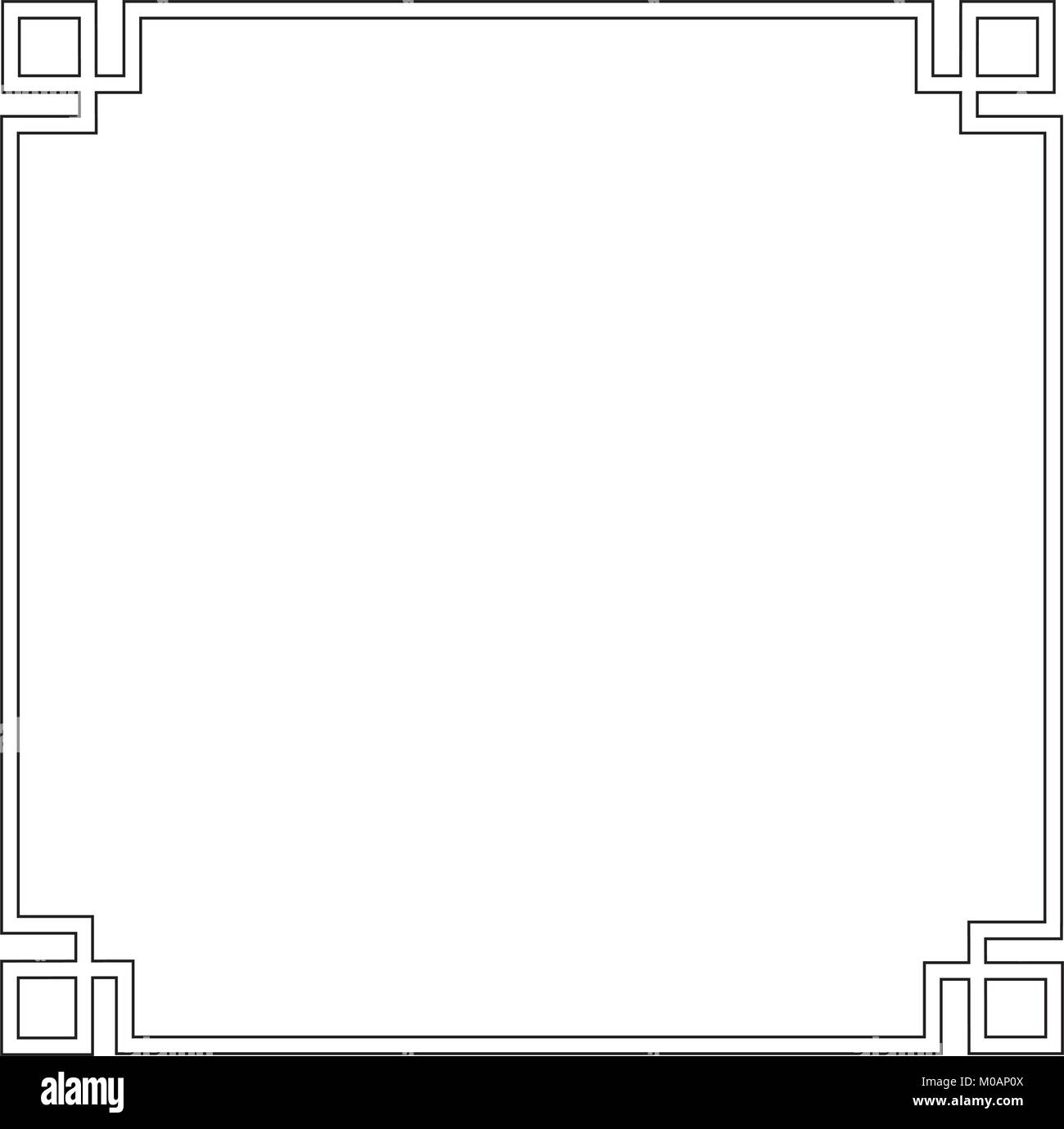 96060749241 Chinese Decorative Square Frame Vector Stock Photos   Chinese ...