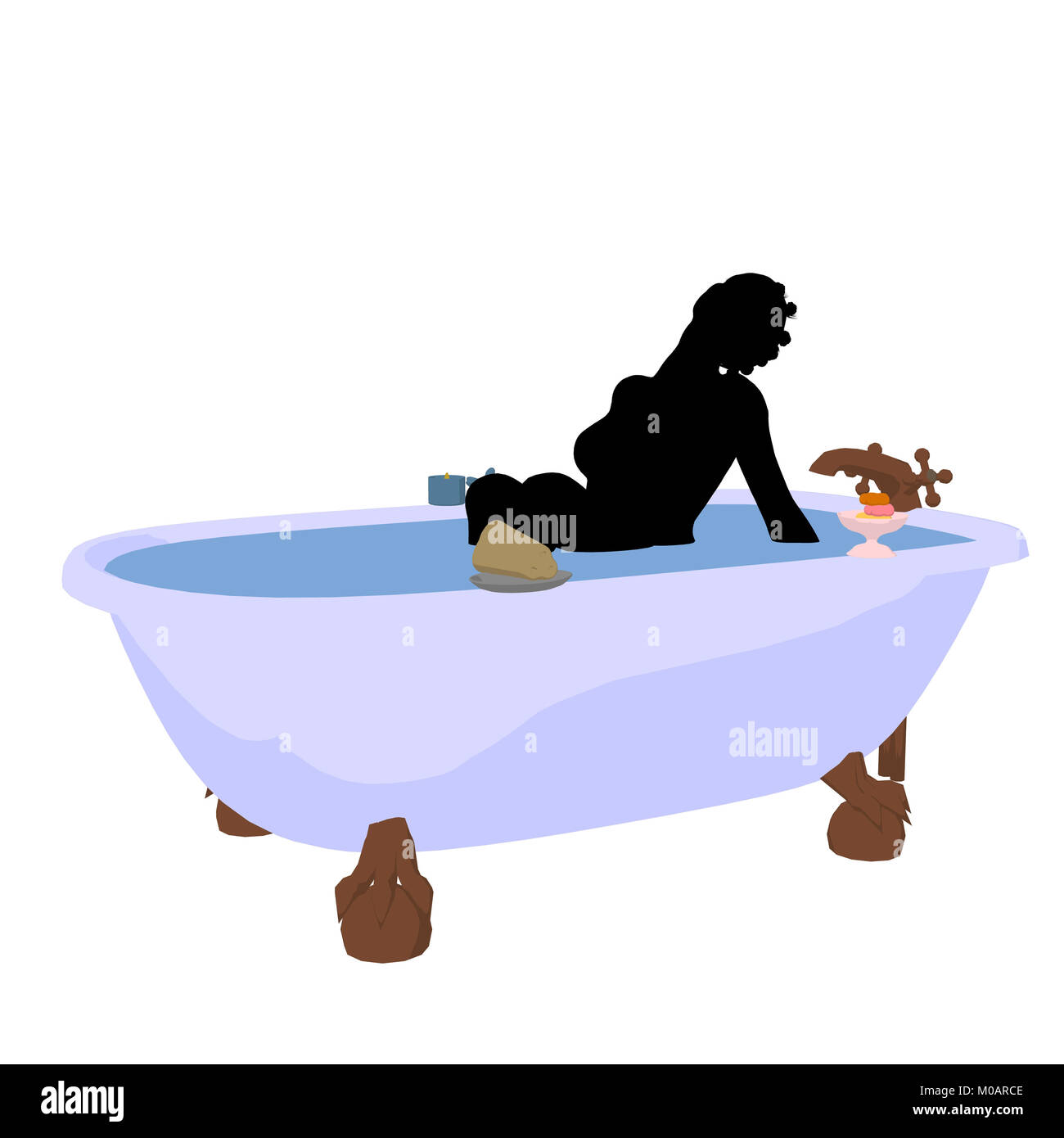 African American Woman In Bathtub Stock Photos & African American ...