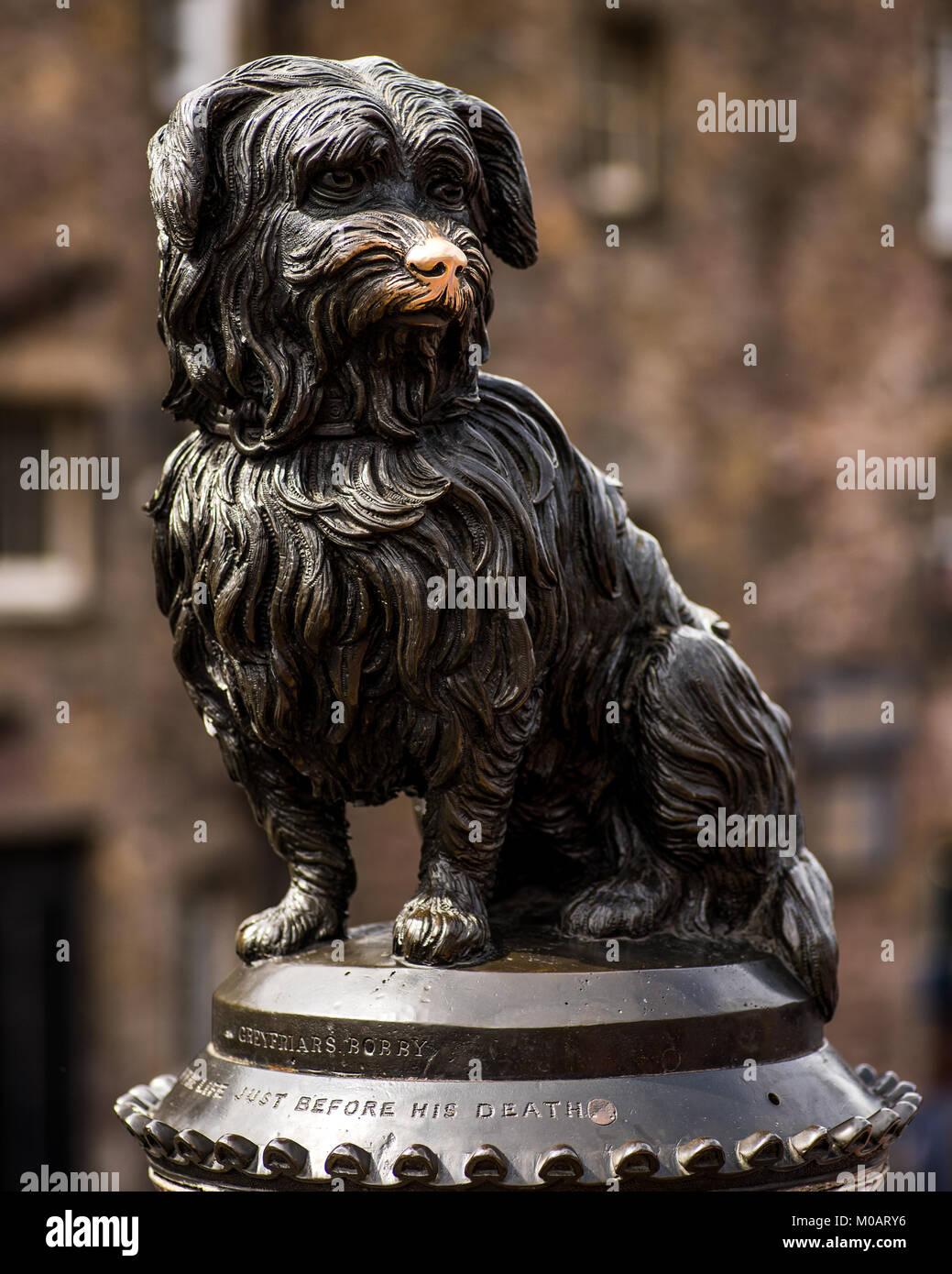 Statue of Greyfriars Bobby in Edinburgh, Scotland (UK) Stock Photo