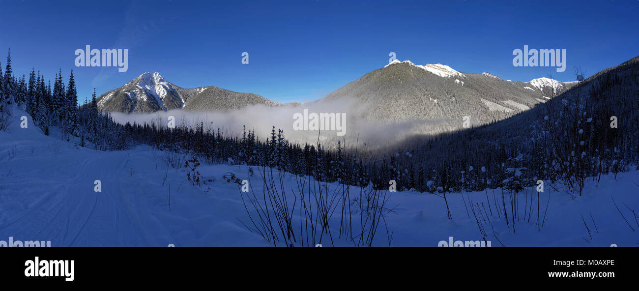 Winter in the Canadian Rockies - Stock Image