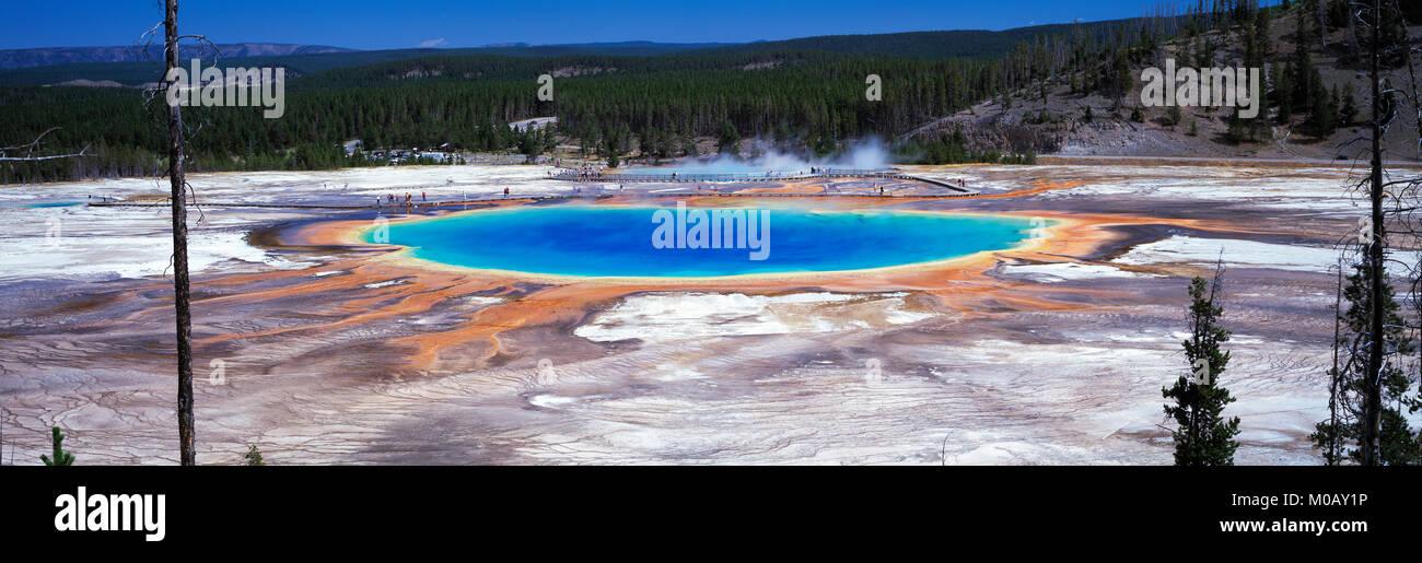 The Grand Prismatic Pool Yellowstone NP Wyoming USA - Stock Image
