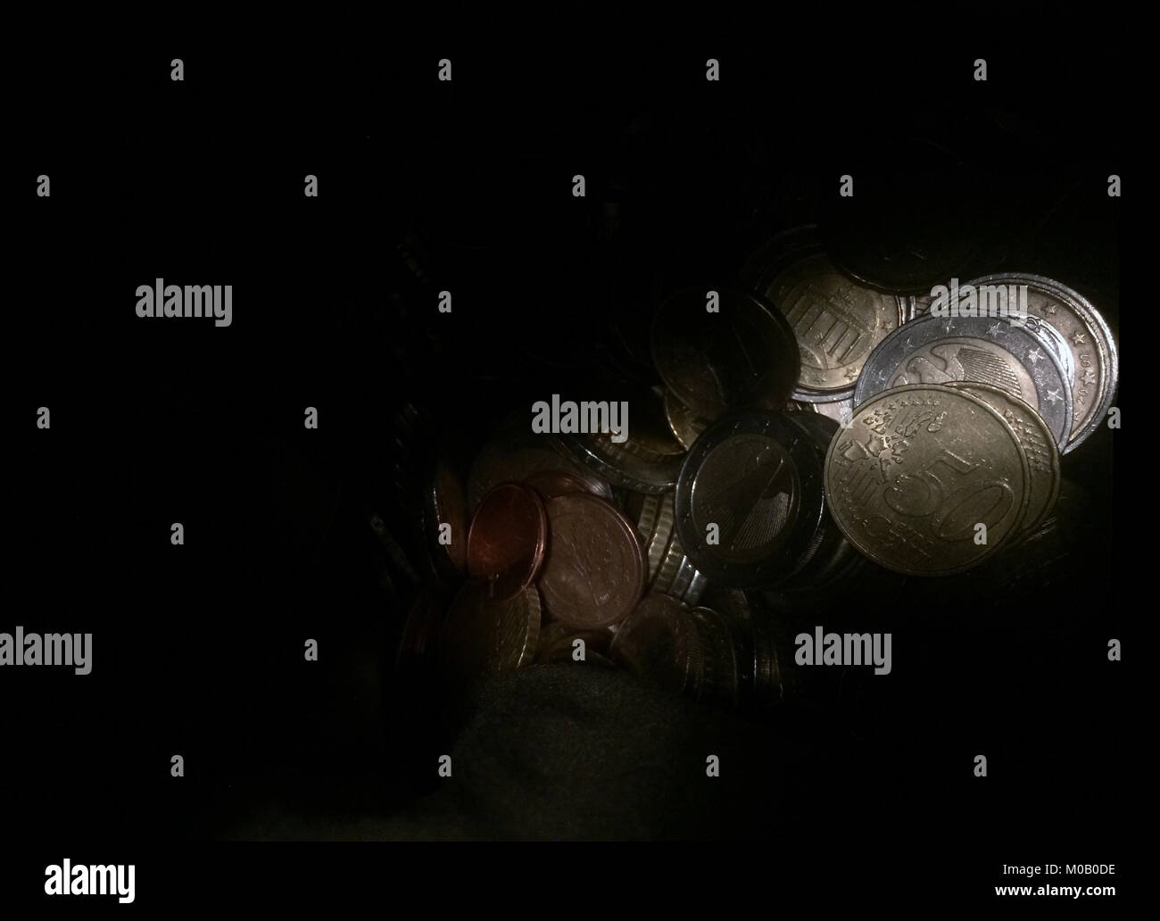 Darkness and Euro crisis - Stock Image