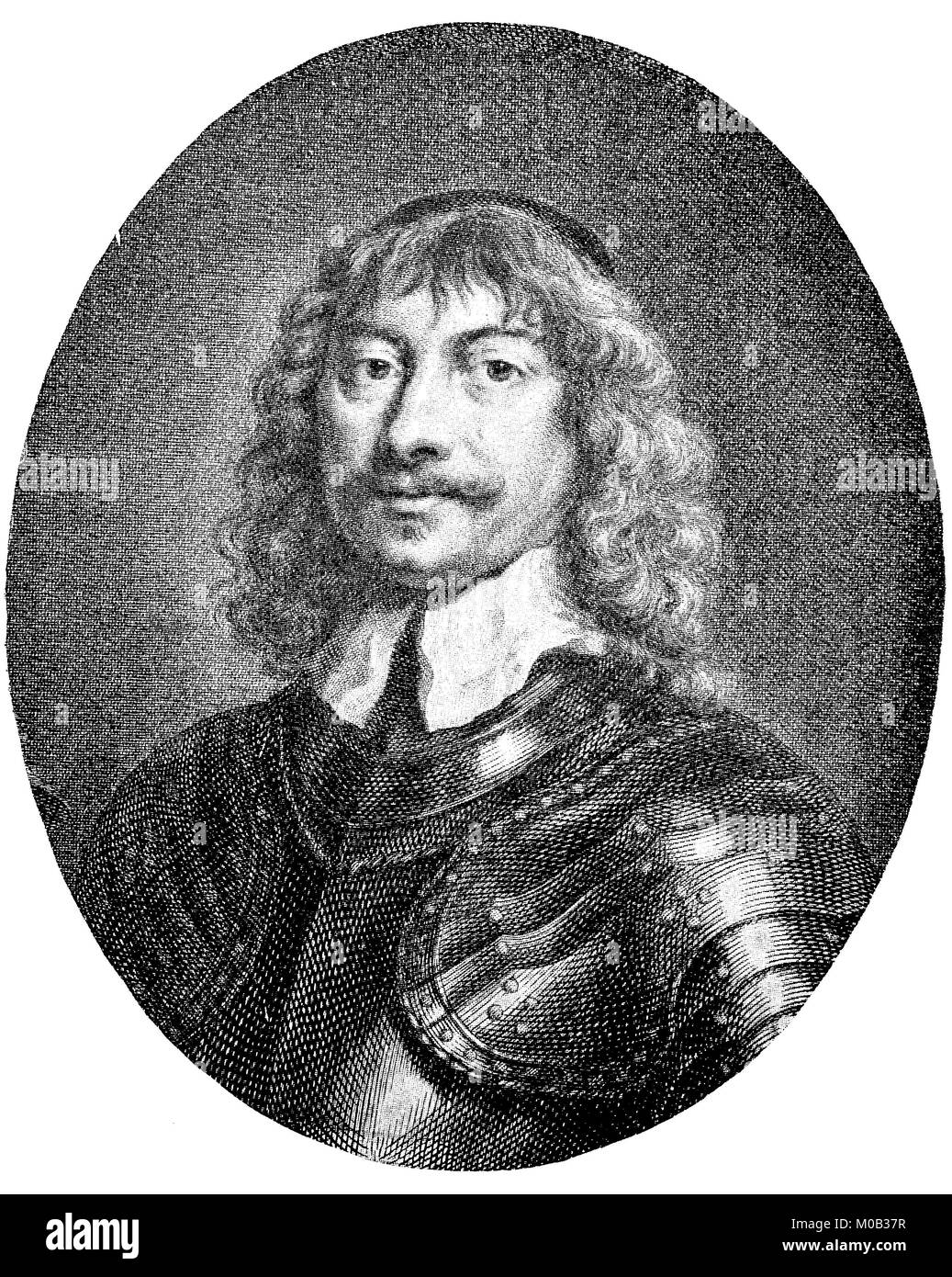 James Graham, 1st Marquess of Montrose, 1612-21 May 1650, was a Scottish nobleman who fought for the royal side Stock Photo