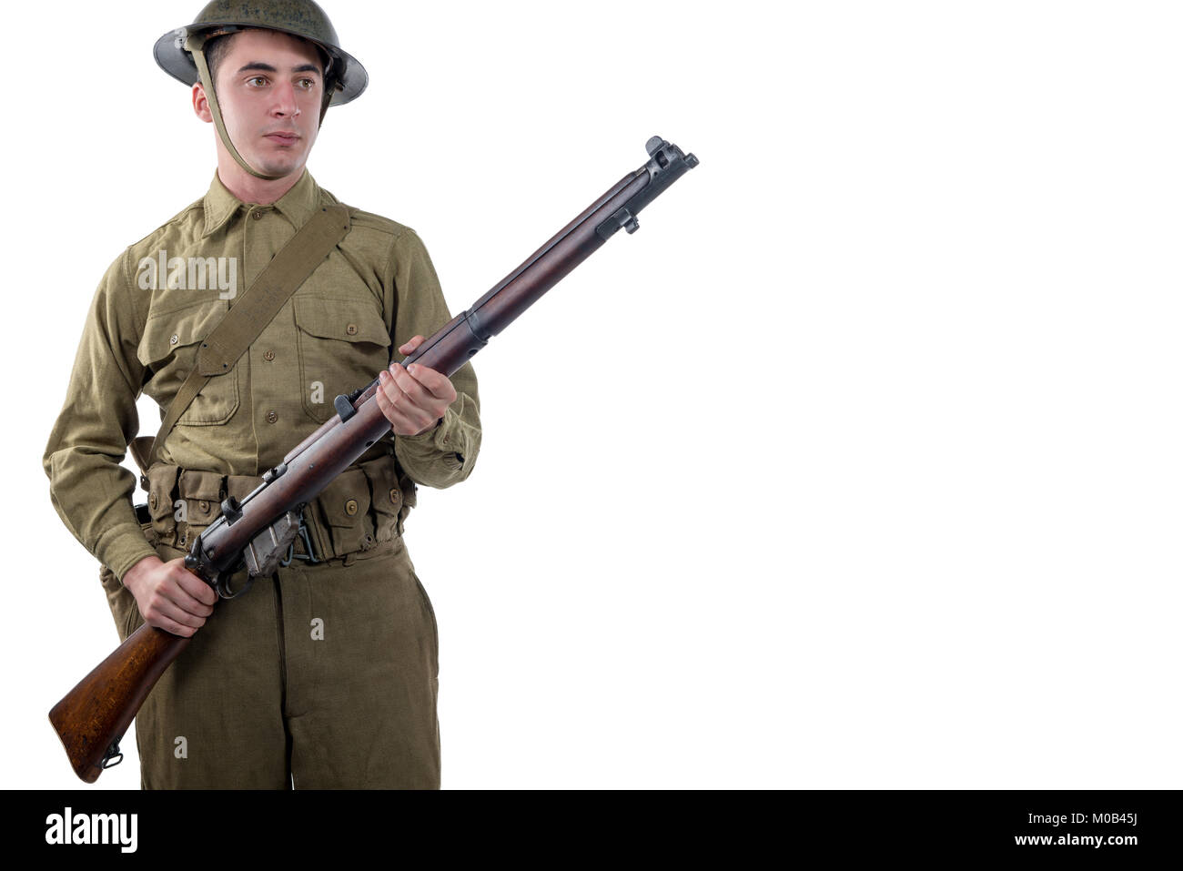 a WW1 British Army Soldier  from the Somme 1916. - Stock Image