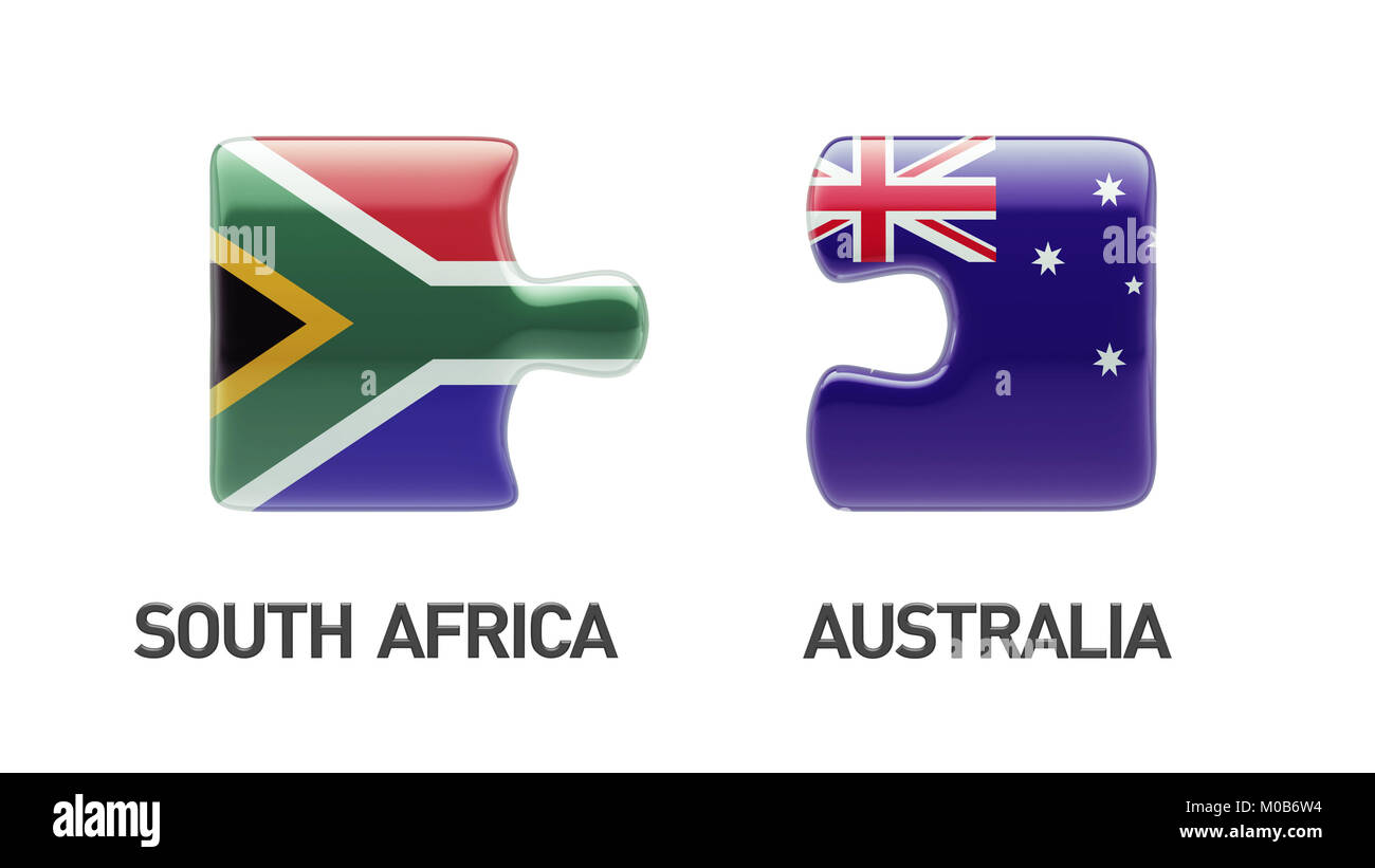 South Africa Australia High Resolution Puzzle Concept - Stock Image