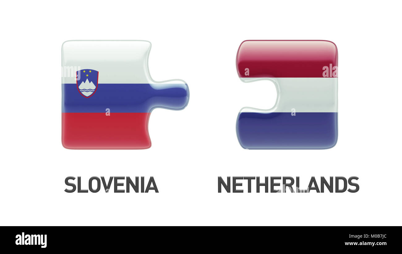 Slovenia Netherlands High Resolution Puzzle Concept Stock Photo
