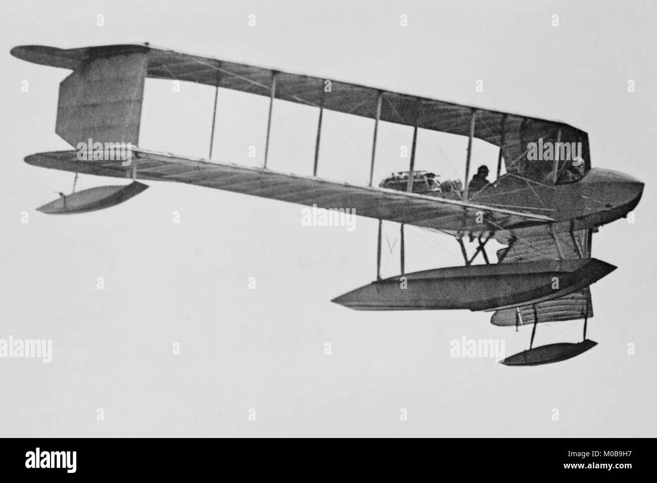 Burgess Sea Biplane of the Naval Militia - Stock Image